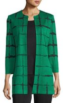 Misook Faded Lines Long Jacket, Plus Size