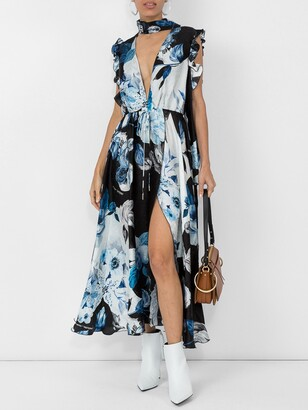 Off-White floral print maxi dress multicolor