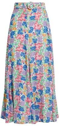 Faithfull The Brand Valensole Jemima Floral Midi Skirt
