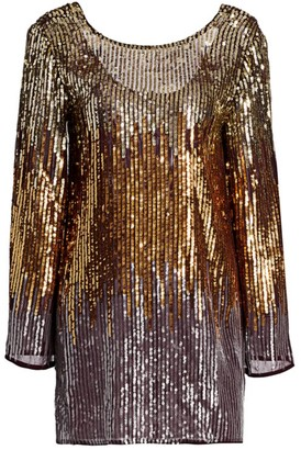 Rixo Aria Sequin Ombre Mini Dress