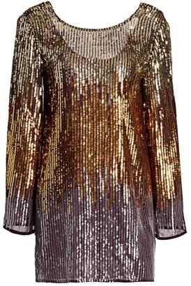 Rixo Aria Sequin Ombre Mini Dress