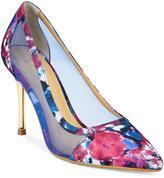 Thalia Sodi Natalia Mesh Pointed-Toe Floral Pumps, Only at Macy's