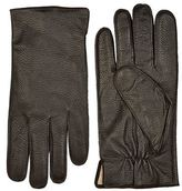 Boss Grained Leather Gloves