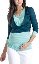 Teal Surplice Maternity/Nursing Bolero