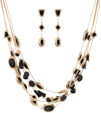 Linea by Louis Dell'Olio Tile Necklace and Earrings Set