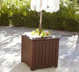 Pottery Barn Chatham Umbrella Stand Side Table - Dark Honey