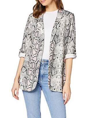 New Look Women's Serena Snake Blazer Suit Jacket,(Size:)