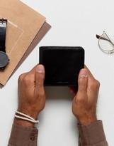 Jack Wills Inver Leather Billfold Wallet Black
