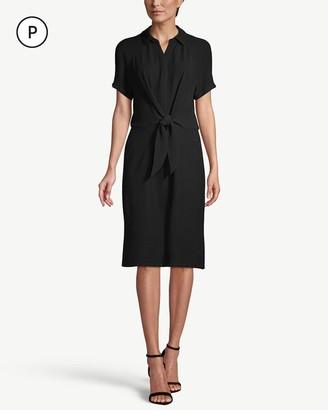 Chico's Petite Short-Sleeve Tie-Waist Shirt Dress