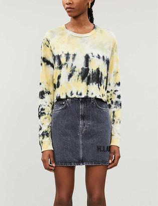 Reformation Jaxon tie-dye print cotton-jersey T-shirt
