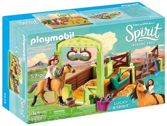 Playmobil Lucky And Spirit Horse Stall Set