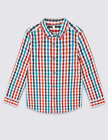 Marks and Spencer Pure Cotton Checked Shirt (3 Months - 5 Years)