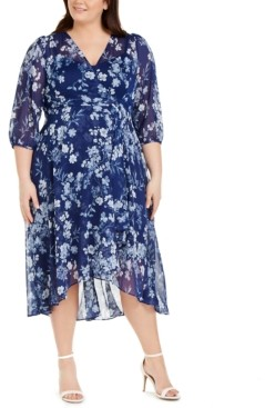 Calvin Klein Plus Size Floral-Print Maxi Dress