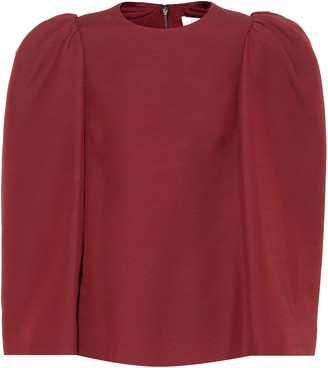 Valentino Silk and wool-blend top