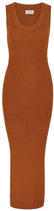 By Malene Birger Minasia Rust Fine-knit Midi Dress