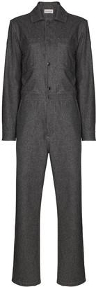 Moncler Long-Sleeve Wool Jumpsuit