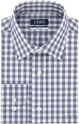 Chaps Men's Regular Fit Comfort Stretch Spread Collar Dress Shirt