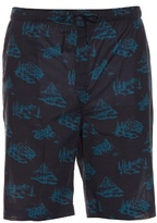 Derek Rose Mountain Range-print cotton pyjama shorts