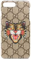 Gucci Angry Cat print iPhone 7 Plus case
