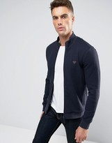 Armani Jeans Track Jacket In Slim Fit Waffle Jersey