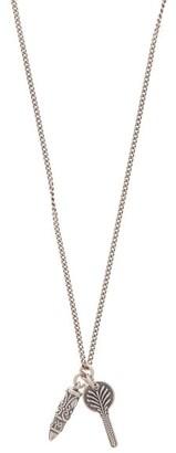 Emanuele Bicocchi Sterling-silver Trace-chain Pendant Necklace - Silver