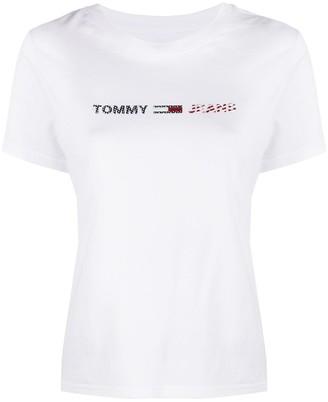 Tommy Jeans raised logo cotton T-shirt