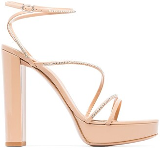 Gianvito Rossi Embellished Strap Sandals
