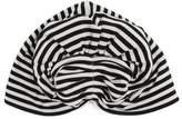 Norma Kamali Striped fan turban hat