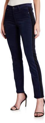 AG Adriano Goldschmied Mari Straight-Leg Tuxedo Stripe Jeans