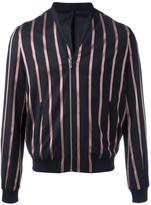 The Kooples striped bomber jacket - men - Cotton/Polyester/Spandex/Elastane/Wool - S