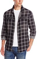 Calvin Klein Jeans Men's Double Faced Plaid and Denim Shirt