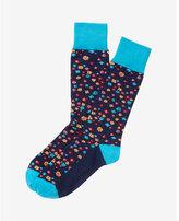 Express multicolor floral dress socks