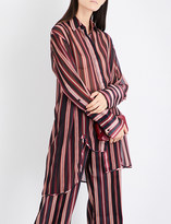 Zimmermann Folly Dapper striped georgette shirt
