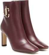 Jimmy Choo Minori 85 leather ankle boots