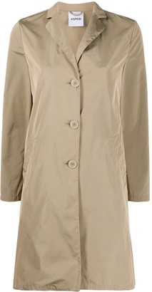 Aspesi Single-Breasted Trench Coat