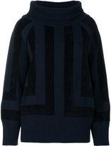 Alberta Ferretti square intarsia jumper