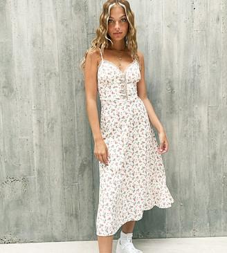 Fashion Union petite midi dress in ditsy floral