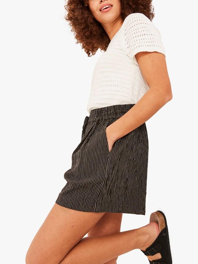Thumbnail for your product : Fat Face FatFace Stripe Safari Shorts, Black