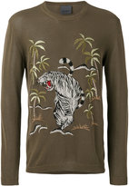 Laneus jungle embroidered jumper - men - Cotton/Viscose - 48