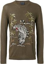 Laneus jungle embroidered jumper - men - Viscose/Cotton - 48