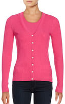 Lord & Taylor Ribbed-Knit Cardigan