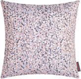 Clarissa Hulse Garland Cushion - 45x45cm - Oyster/Smoke/Grey/Silver