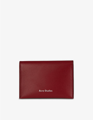 Acne Studios Logo-embossed leather card holder