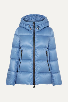Moncler Hooded Quilted Shell Down Jacket - Blue