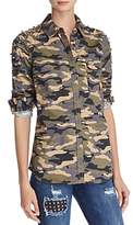 True Religion Studded Camouflage Shirt