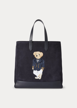 Ralph Lauren Suede Polo Bear Tote