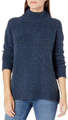 Pendleton Donegal Knit Pullover (Prussian Blue Donegal) Women's Sweater