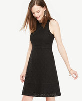 Ann Taylor Tall Eyelet Flare Dress