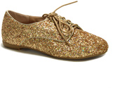 Bamboo Gold Glitter Oxford