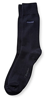 Calvin Klein Men's Signature Flat Knit Crew Sock